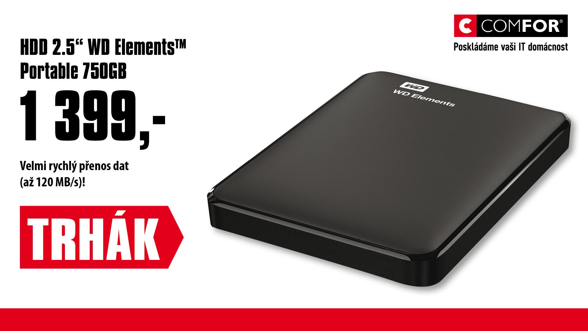 Extérní disk WD Elements Portable 750GB USB