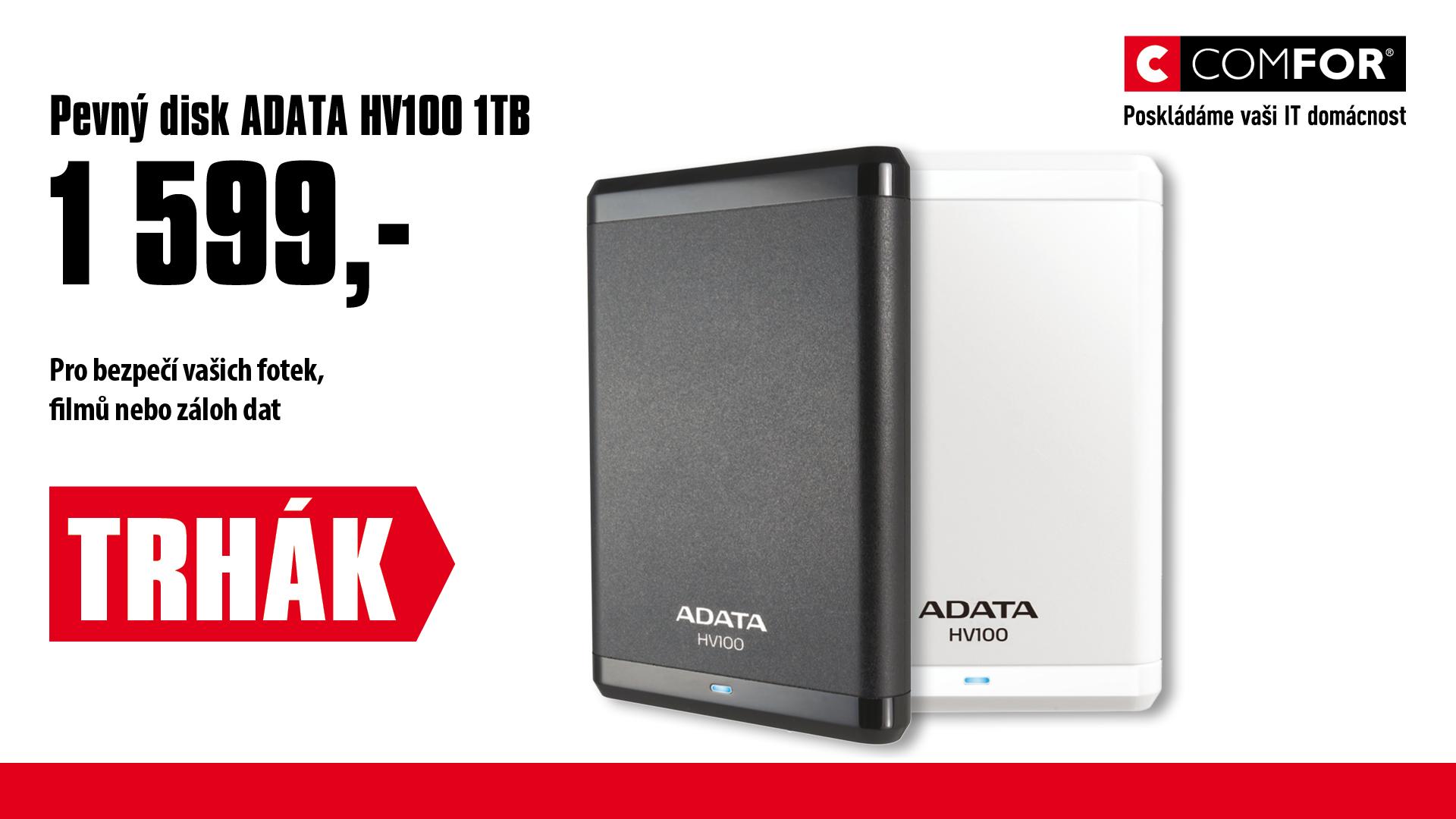 """ADATA HV100 1TB External 2.5"""" HDD"""