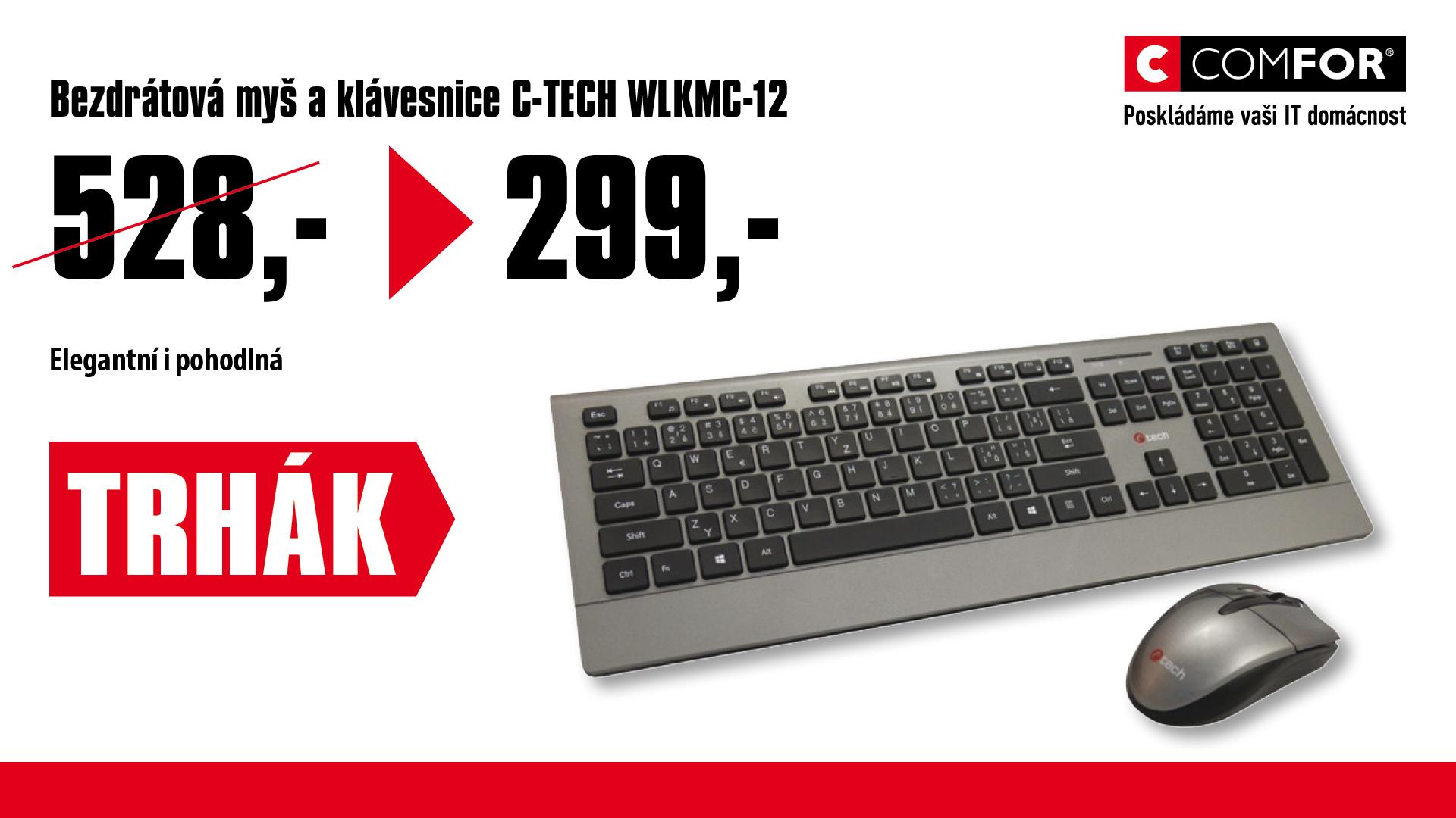 C-TECH WLKMC-12 bezdrátový USB set