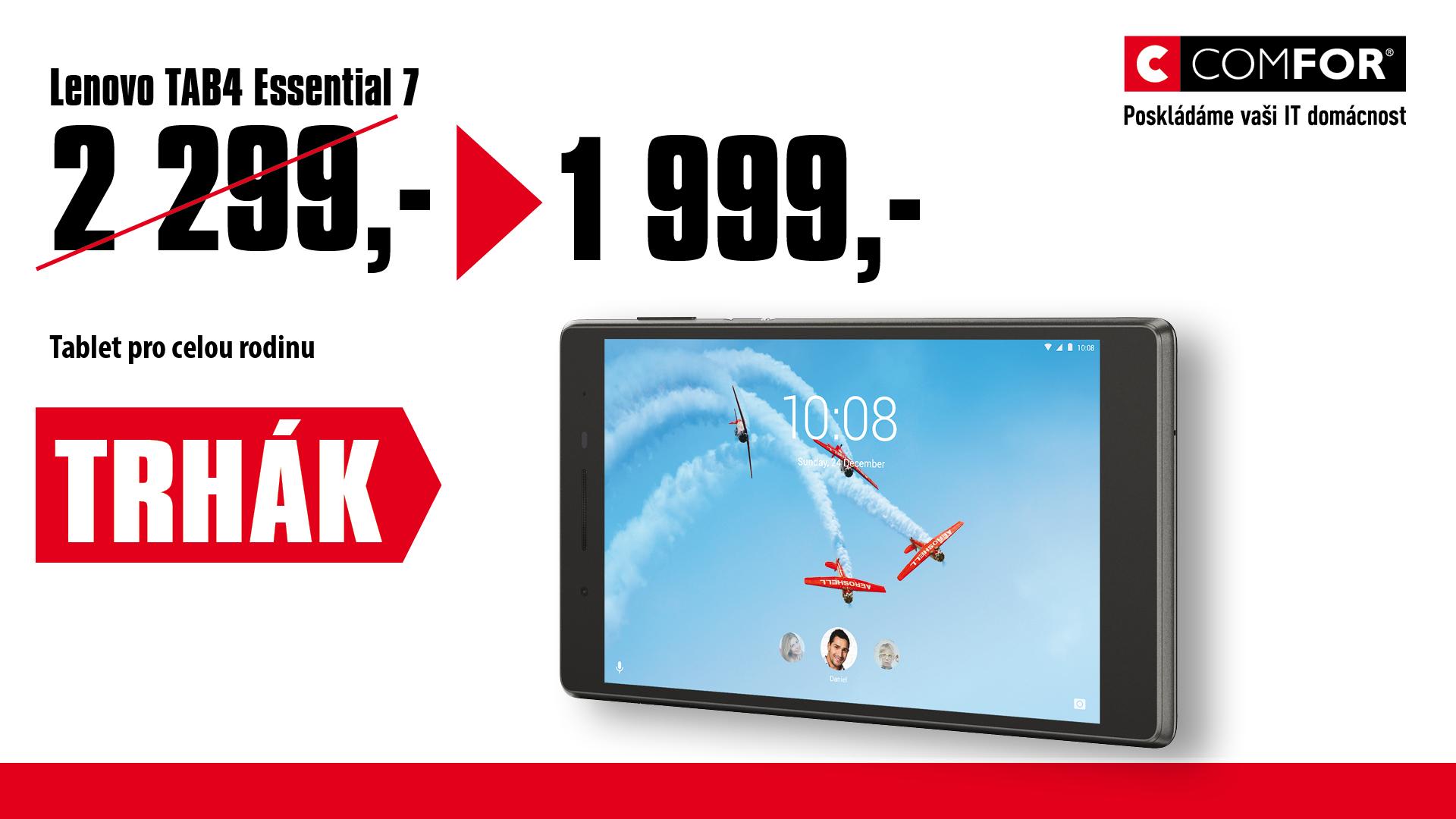 """Lenovo TAB4 Essential 7,0""""/1,3 GHz/1G/16GB/An"""