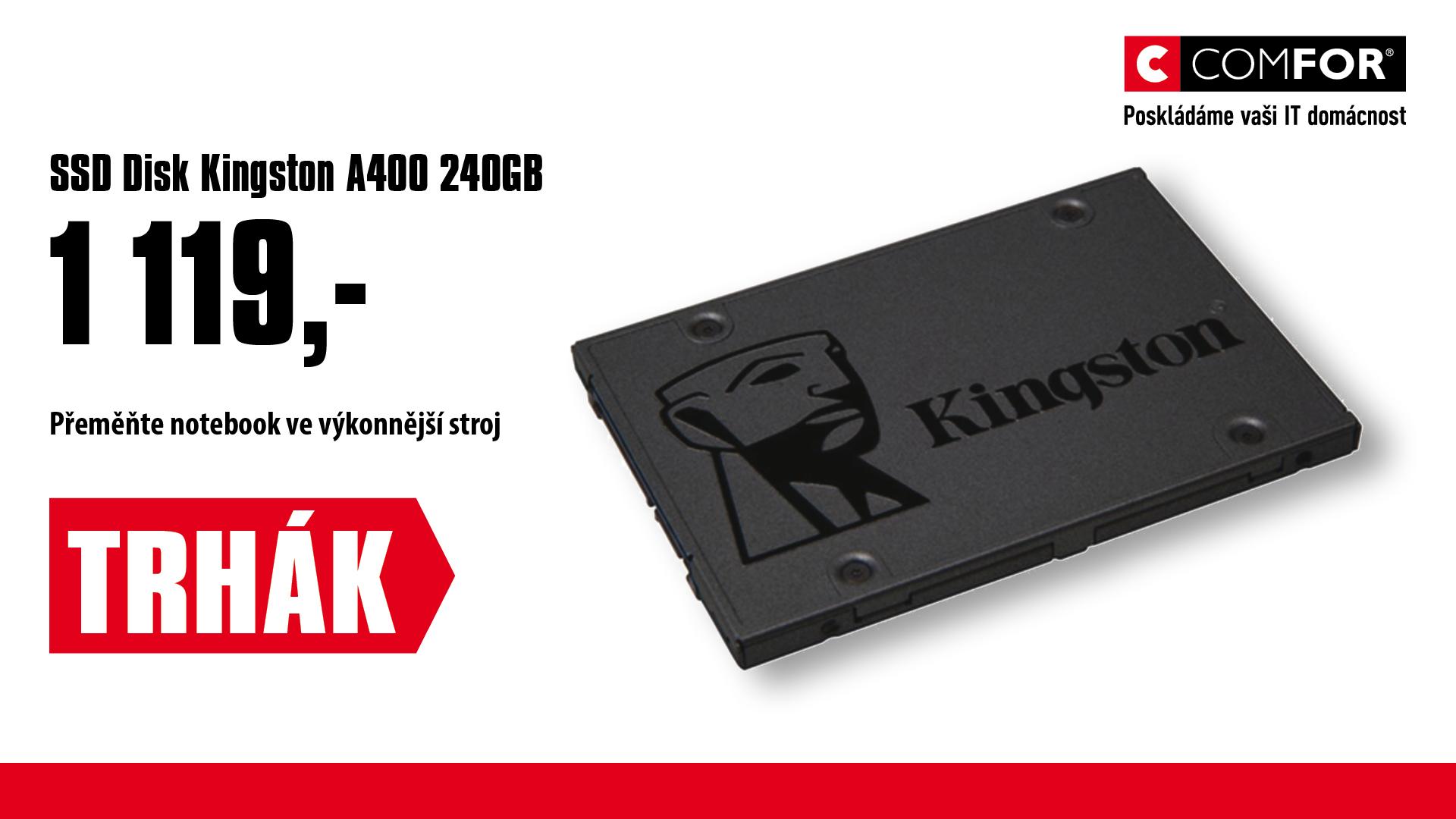 240GB A400 Kingston SATA3 2.5 500/350MBs