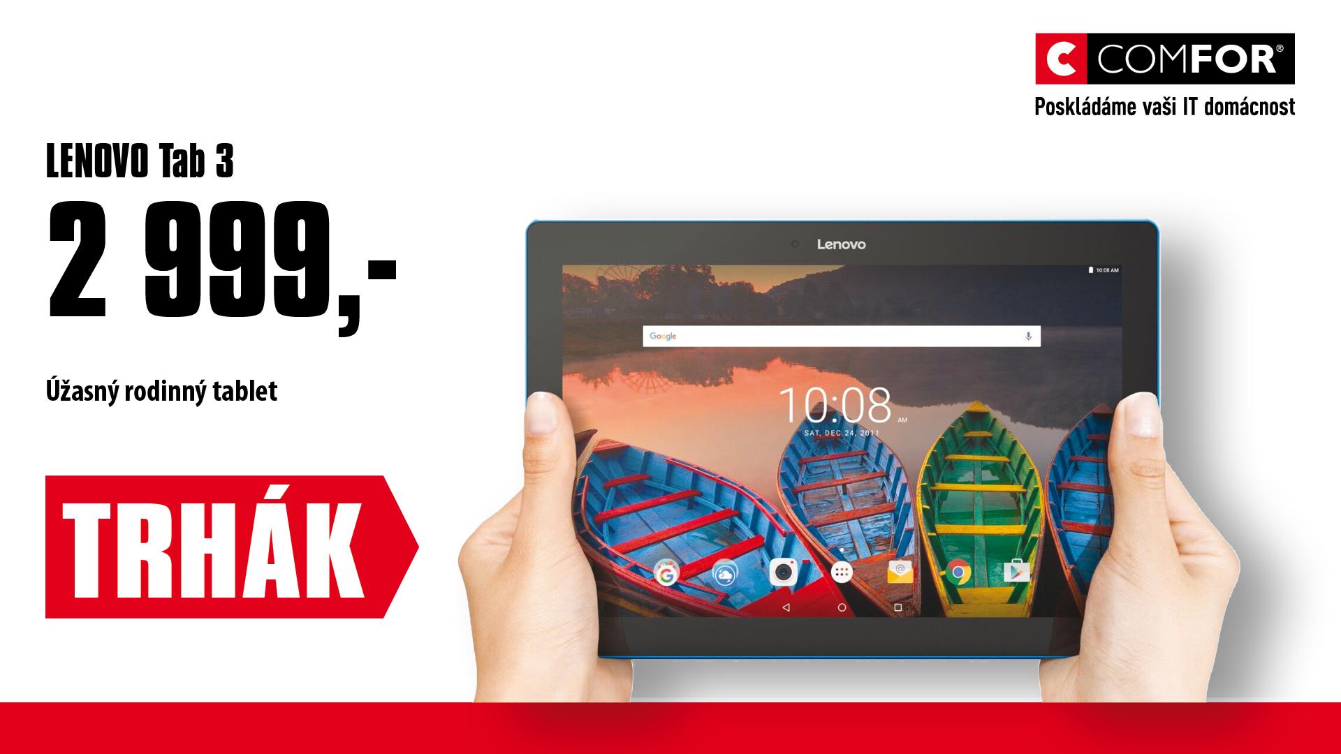 """Lenovo TAB 3 10 10,1"""" HD/1G/16G/And6.0,černý"""