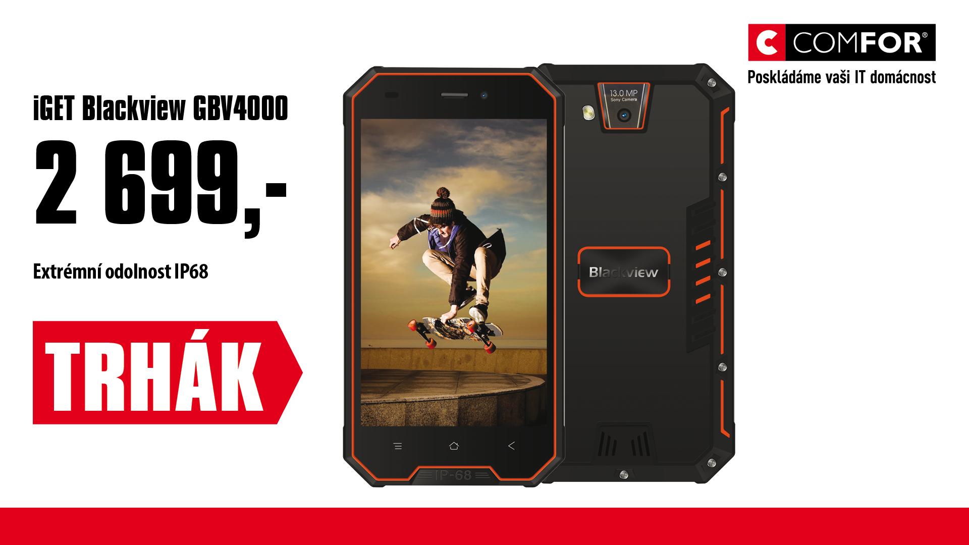 "iGET Blackview GBV4000 Orange 4,7"""